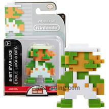 Year 2016 World of Nintendo Super Mario Bros 2-1/2 Inch Figure 8-BIT STAR LUIGI - $24.99
