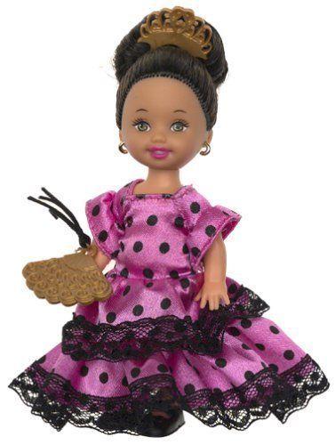 Barbie's Sister Kelly Friends of the World Spain Holland Kenya - Mattel NEW 2002