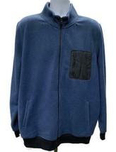 Wallin & Bros Fleece Zip Jacket Coat Blue Men's Size Extra Large XL - $36.79