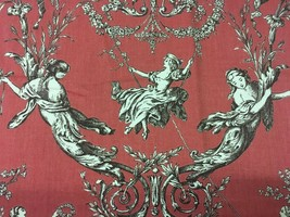 P Kaufmann Campagna Whimsical Cherry Toile Multi-Purpose Fabric 3.5 yds - $66.50