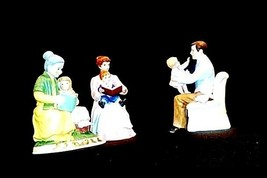 "3 Figurines Symbolizing ""Family Time""AB 830 Vintage Special image 2"