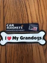 Imagine This I Love My Grandogs Bone Shaped Car Magnet Ships N 24h - $5.80