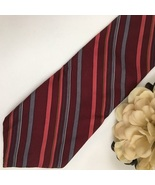 YSL Yves Saint Laurent Red striped men's business tie - $18.95