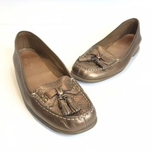 Aerosoles 9.B Your Turn bronze Tassel loafers womens moccasin flats shoes - $19.59