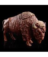 Antique Buffalo Ink Well - victorian sculpture - Vintage Bison all metal... - $1,100.00