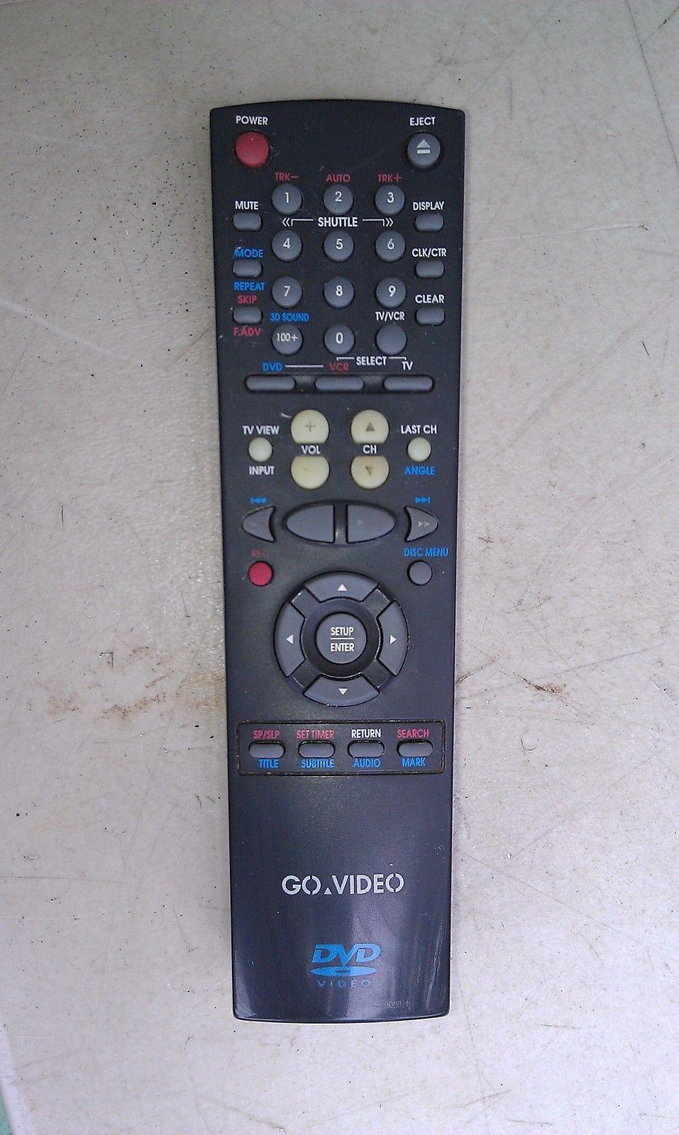 7JJJ42 GO VIDEO REMOTE CONTROL FOR DVD/VCR UNIT, VERY GOOD CONDITION - $10.66