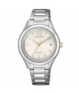 Citizen Eco-Drive 'Chandler' Women's 32mm Steel Date Watch FE6124-51A - $79.99
