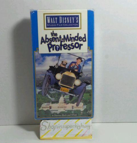 VINTAGE CLASSIC THE ABSENT-MINDED PROFESSOR WALT DISNEY VHS MOVIE BLACK WHITE
