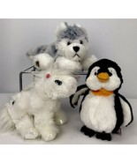 3 Pc Ganz Lil' Kinz Husky White Unicorn Penguin Toy Stuffed Animal Plush... - $39.59