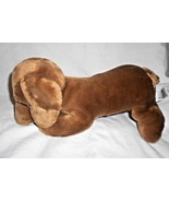 Animal Alley Dachshund Wiener Puppy Dog Brown Plush Stuffed Animal Reali... - $11.76
