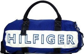 New! Blue-White #084 [Tommy Hilfiger] Large Duffle Travel Carry-On Bag - $148.98
