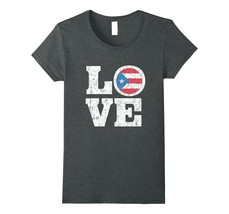 New Shirt - Puerto Rico Love T-Shirt Proud Buricua Flag Distressed Tee W... - $19.95+