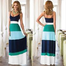 Women maxi dresses Summer dress Striped Long Evening Sleeveless Maxi Sexy - $22.99