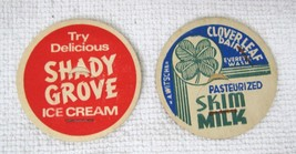Antique Milk Caps Shady Grove Cloverleaf Dairy Paper In Great Shape Colo... - $9.90