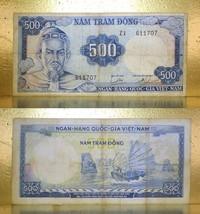 Vietnam 1966 RVN Money 500.00 Dong Banknotes - $10.88