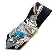 BUGS BUNNY NEWS TIE Looney Tunes Postage Stamp Collection 1997 Men's Nec... - $17.75