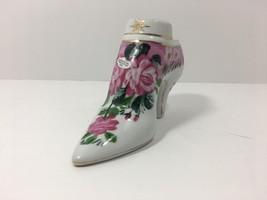 Formalities by Baum Bros. Porcelain Shoe Figurine, Floral Design (18 Cen... - $12.46