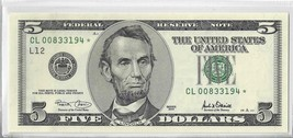 2001 $5 FRN *Star Note* San Francisco District  UNC - $16.83