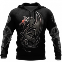 Armor Tattoo and Dungeon Dragon 3D Hoodie All Over Printed S-5XL Fathers... - $37.17+