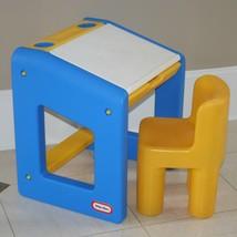 Vintage Little Tikes Desk, CHILD SIZE & Chair, Activity School Table, Op... - $69.49