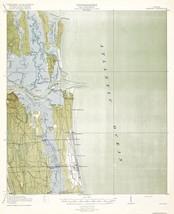 Topo Map - Mayport Florida Quad - USGS 1918 - 23 x 28.35 - $36.95+