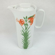 Block Langenthal Henry Evans Floral Portraits Tiger Lily Coffee Pot with... - $89.99