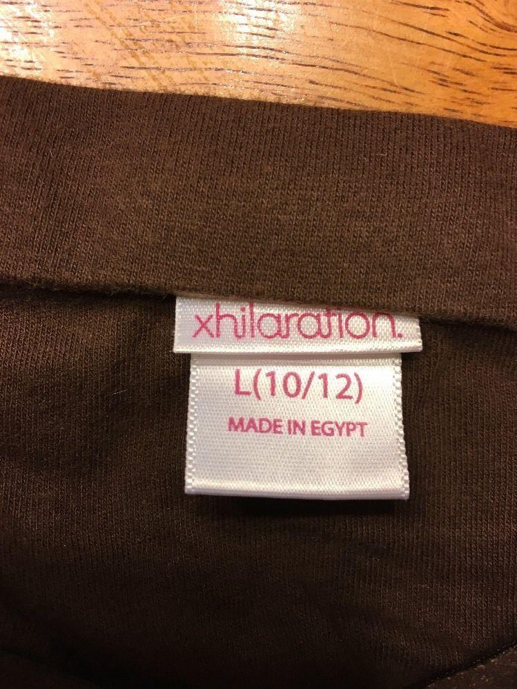 Xhilaration Girl's Brown Halter Top Shirt / Blouse Size: Large 10/12 image 6