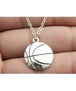 Simple Vintage Antique Silver 22*18Mm Silver Basketball Necklace N2-B132... - $25.99