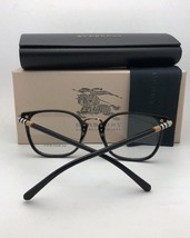 New BURBERRY Eyeglasses B 1324 1262 52-19 140 Black & Gold Frame w/ Plaid Design