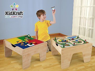 High Quality ... KidKraft 2 In 1 Activity Table Lego Compatible NATURAL 17576 Kidsu0027  Furniture ...