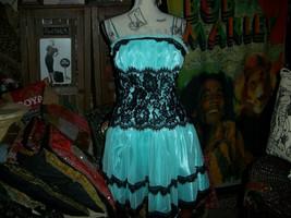 ASPEED  Sensational Baby Blue+Black Lace Dress Size XL - $20.79