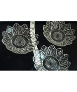 Vintage Glass Star Cross Dish Glassware Petal Edge Snack Serving Dishes ... - $99.99