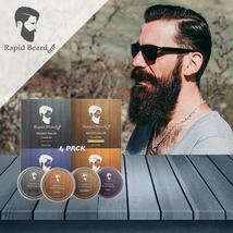 Beard Balm Conditioner 4 Pack - Natural Variety Leave-in Conditioner Wax Butter  image 5