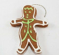 Vintage Christmas Tree Ornament Frosted Sugar Gingerbread Man Styrofoam ... - $4.99