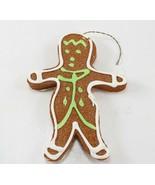 Vintage Christmas Tree Ornament Frosted Sugar Gingerbread Man Styrofoam ... - $4.99