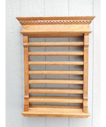 Antique Pool Billiard Quarter Sewn Oak Tiger Oak Wall Pool Ball Rack 1890 - $1,777.55