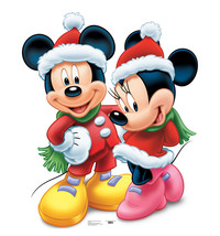Mickey & Minnie Christmas Holiday StandUp Cardboard Standee Life Size De... - $39.95