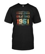 Retro Vintage 1961 Old School 57 Years Old Birthday T Shirt - $17.99