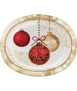 Opulent Ornaments 8 Piece Oval Paper Platters - $6.45
