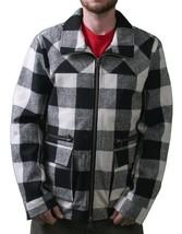 KR3W Thick Birmingham Black & White Plaid Checker Jacket Zip Up Coat NWT image 1