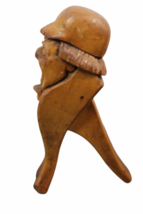 """Vintage Hand Carved Wood Nutcracker 7.5"""" Tall Man Mouth Opens Standing image 4"""