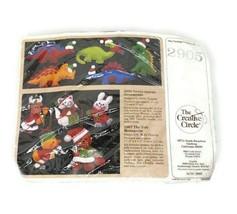 Vintage The Creative Circle Santa-saurus & Menagerie Felt Ornament Kit #... - $19.79
