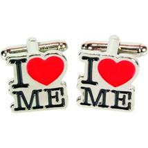 I Love Me Cufflinks  retro Cufflinks fun design Cufflinks in gift box cuff links