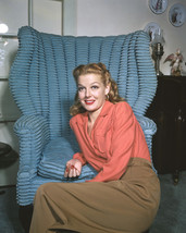 Ann Sheridan Relaxing By Vintage Chair 1940'S Color 16X20 Canvas Giclee - $69.99