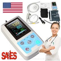 24 Hours Ambulatory Patient Monitor Handheld Vital Signs Monitor SPO2 NI... - $197.01