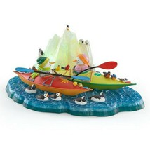 Lenox Bywaters Kayaking with Friends Snowman Figurine Lighted Penguins RARE NEW - $193.05