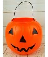 Empire Halloween Blow Mold Jack O Lantern Candy Pail Bucket 1980 Vintage... - $18.86