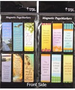 Beautiful Magnetic Bookmarks Set of 12 Bible Verses Be Still and Friends... - $10.19