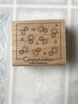 Congratulations Engagement Ring Stamp Stampin' Up! Rubber Wood Mount Wedding New - $11.29