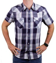 NEW LEVI'S MEN'S CLASSIC COTTON CASUAL BUTTON UP PLAID GRAY BLACK TEC-3LYSW6102